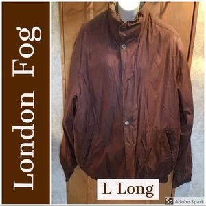 Large Long Brown Hooded Removable Lining London Fg